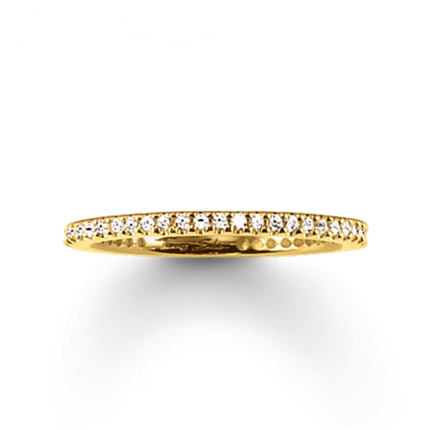 Thomas Sabo Gold Skinny Eternity Ring TR1980-414-14