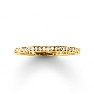 Gold Skinny Eternity Ring