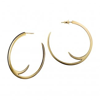 Gold Vermeil Cat Claw Hoop Earrings 42mm SLS105