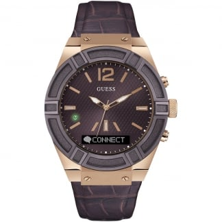 Men's CONNECT Brown & Rose Gold 45mm Smartwatch C0001G2
