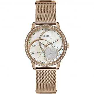 Ladies IQ+ Hybrid Gold Mesh Smartwatch