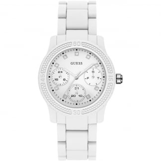 Ladies All White Multifunction Funfetti Watch
