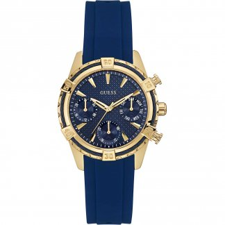 Ladies Catalina Multi-Function Blue Rubber Strap Watch W0562L2