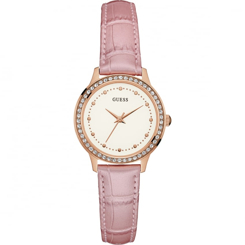 pink guess watches
