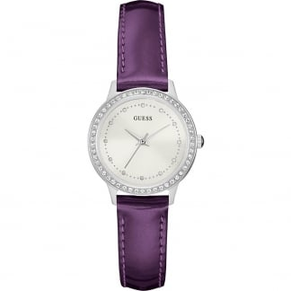 Ladies Chelsea Purple Leather Strap Watch
