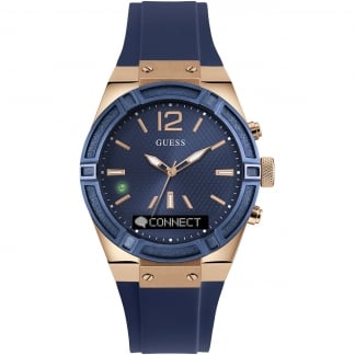 Ladies CONNECT Blue & Rose Gold 41mm Smartwatch C0002M1