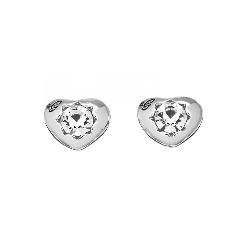 60c23a06c Guess Ladies 'Crystals Of Love' Silver Heart Studs Product Code: UBE51415