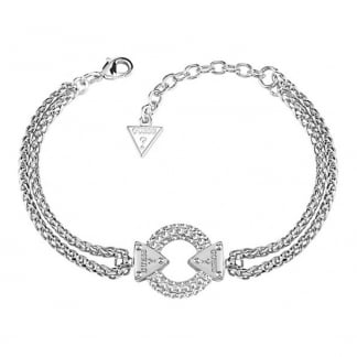 Ladies 'Embrace Me' Double Chain Bracelet