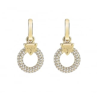 Ladies 'Embrace Me' Gold Crystal Set Earrings