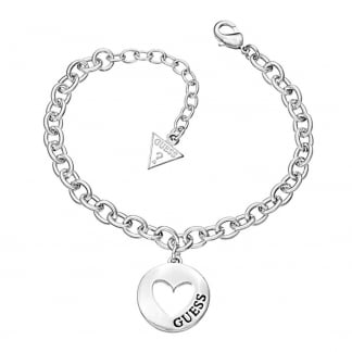 Ladies 'G-Girl' Open Heart Coin Bracelet