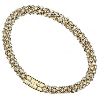 Ladies 'Glamazon' Gold Crystal Set Bangle