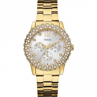 Ladies Gold Dazzler Multi-Function Watch W0335L2