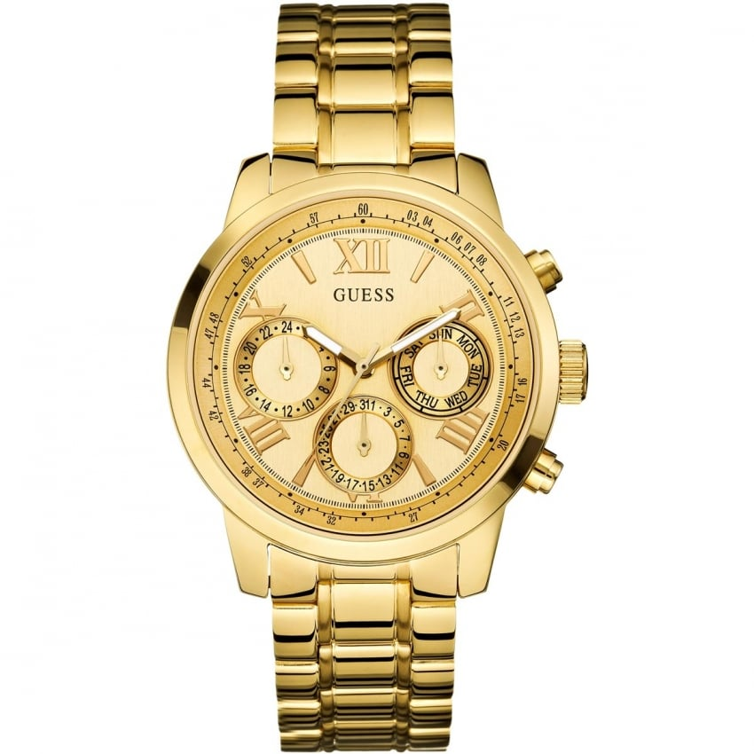 Guess Ladies Gold Multifunction Sunrise Watch W0330L1