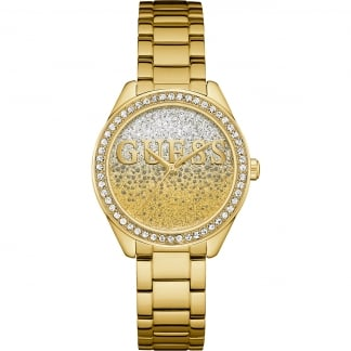 Ladies Gold Plated Glitter Girl Watch