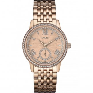 Ladies Gramercy Rose Tone Stone Set Watch W0573L3