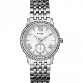 Ladies Gramercy Silver Tone Bracelet Watch W0573L1