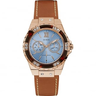 Ladies Rose Limelight Tan Leather Multi-Function Watch