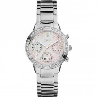 Ladies Mini Glam All Steel Multi-Function Watch W0546L1