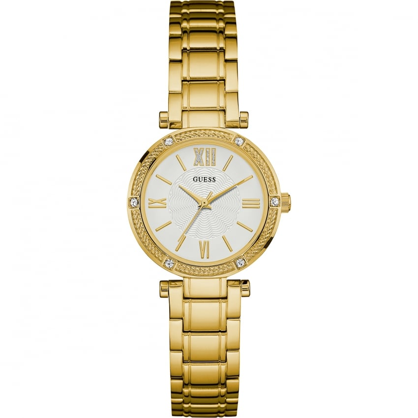guess park ave south gold plated watches