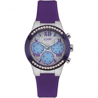 Ladies Rockstar Purple Resin Chronograph Watch W0773L4
