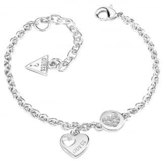 Ladies Silver Heart 'Devotion' Bracelet