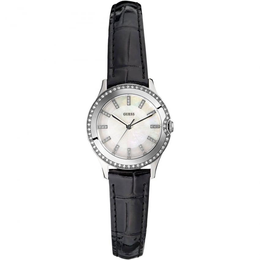 Guess Ladies Skinny Strap Mini Moonbeam Watch W0109L1