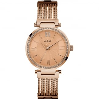 Ladies Soho Rose Gold Plated Watch