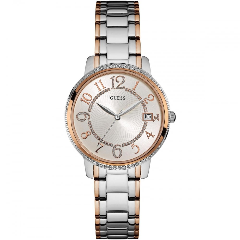 Guess Ladies Steel & Rose Gold Kismet Watch - Watches from ... - photo #15