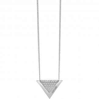 Ladies Steel Triangle 'Revers' Necklace