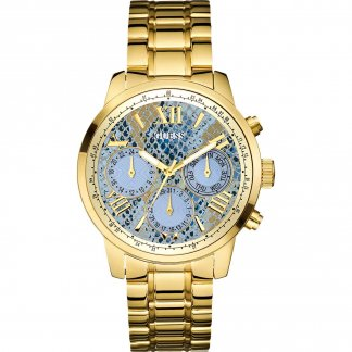 Ladies Sunrise Python Print Multi-Function Watch W0330L13
