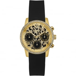 Ladies Time to Give Animal Print Chronograph Watch W0023L6