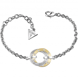 Ladies Two Tone Circle E-Motions Bracelet