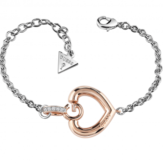 Ladies Two Tone Open Heart Giselle Bracelet