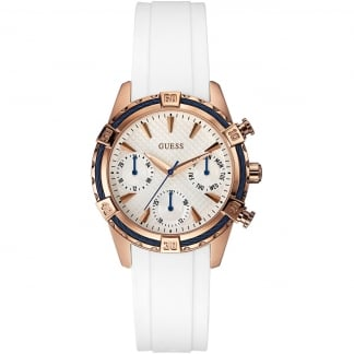 Ladies Catalina White Rubber Chronograph Watch W0562L1