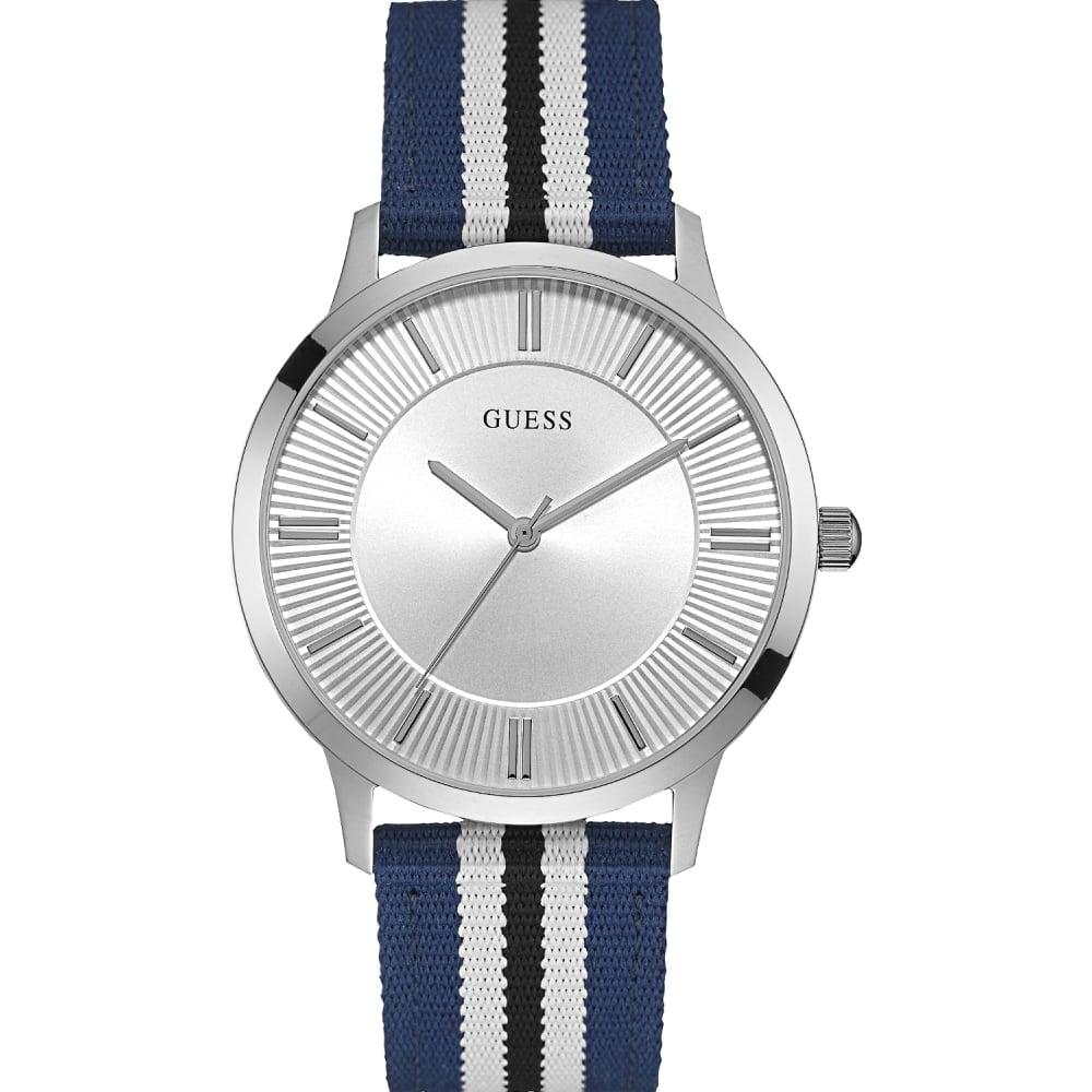 guess men s escrow blue nato strap watch watches from francis men 039 s escrow blue nato strap watch