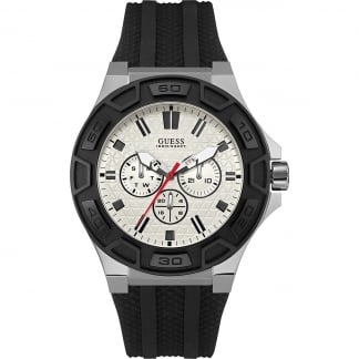 Men's Force Black Resin Multi-Function Watch W0674G3