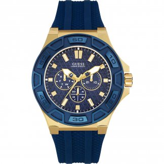 Men's Force Multi-Function Blue Rubber Sports Watch W0674G2