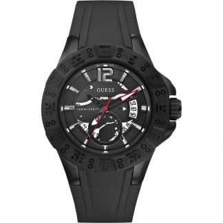 Men's Magnum Chunky Black Rubber Strap Watch