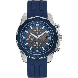 Men's Octane Blue Silicone Chronograph Watch