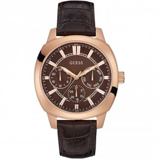 Men's Prime Brown Leather Multi-Function Watch W0660G1