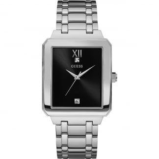 Men's Stainless Steel Square Highrise Watch