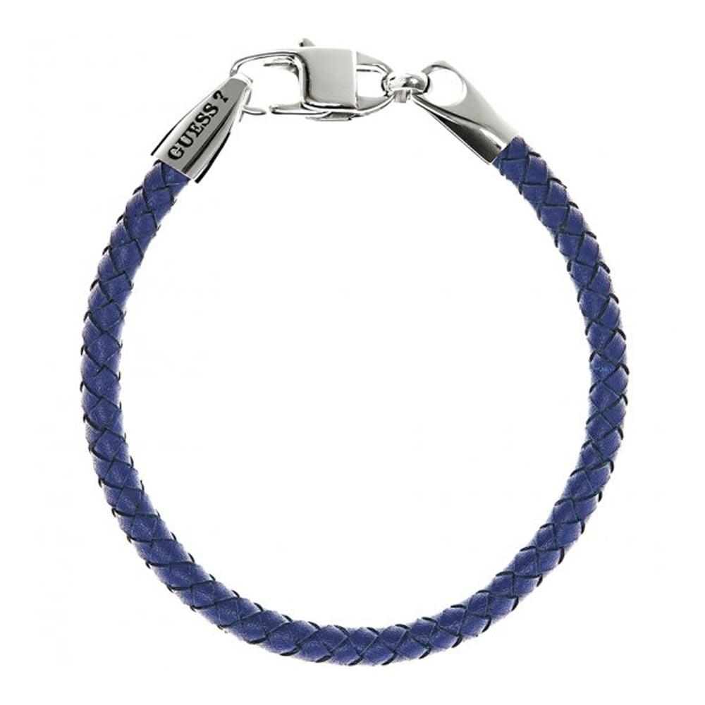 4fbc92a915dd1 Guess Men's 'Tough' Blue Leather Bracelet