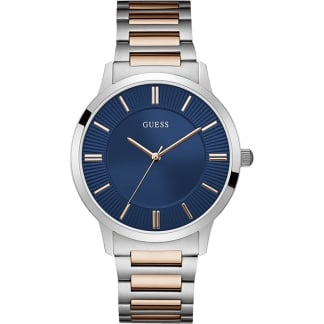 Men's Two Tone Blue Dial Escrow Watch