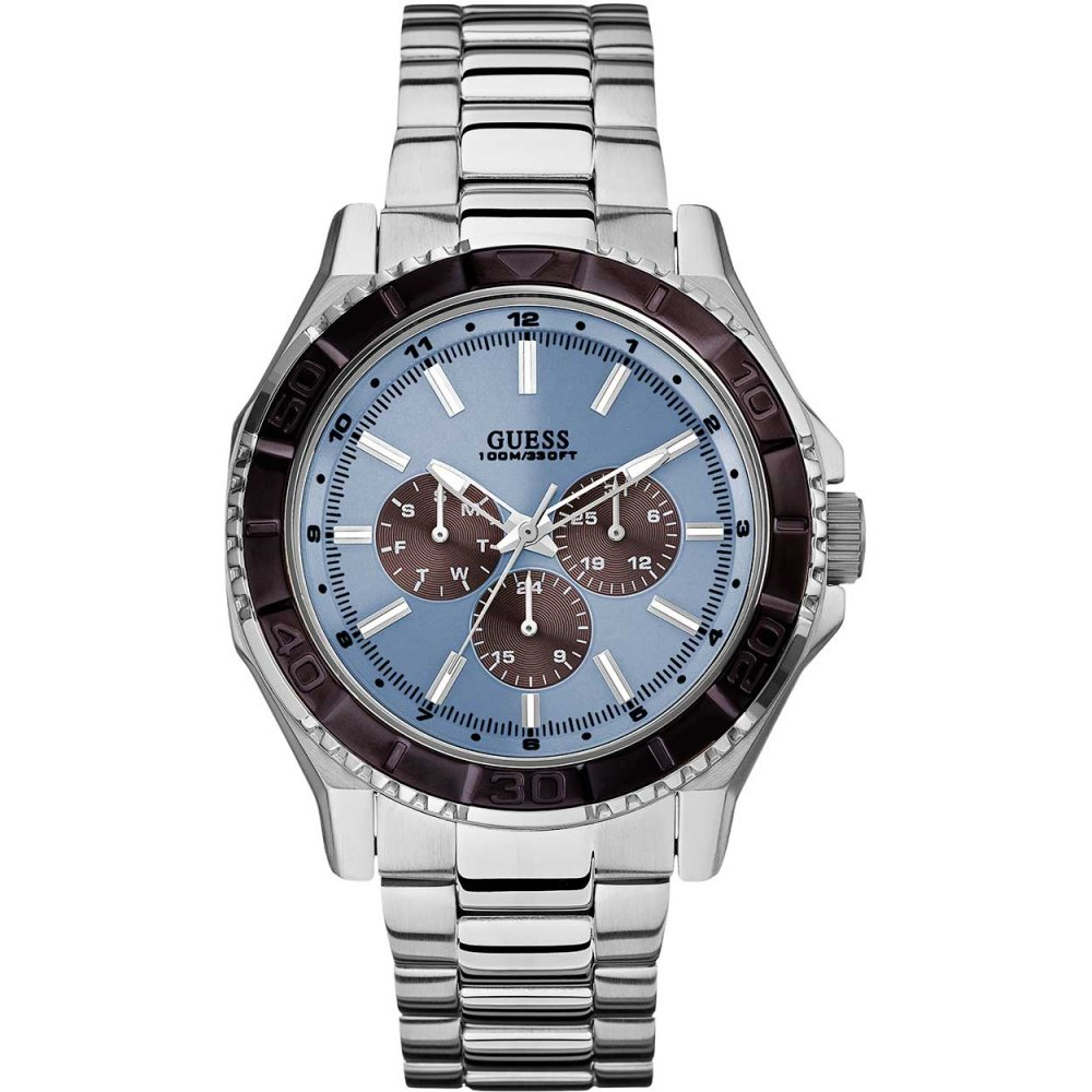 Guess Men's Unplugged Multifunction Steel Bracelet Watch