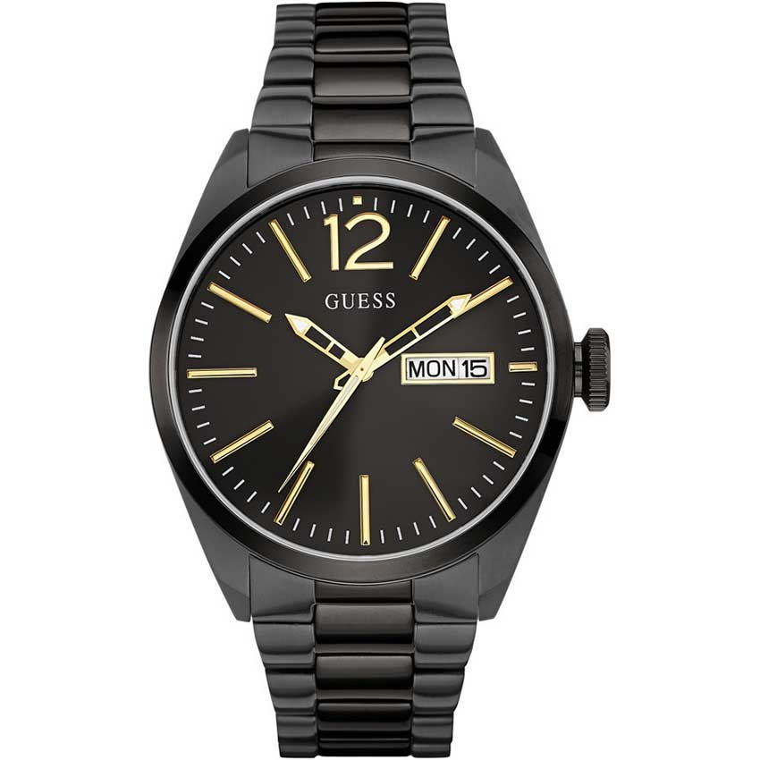 Black Ion Plated Guess Watches Sale