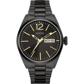 Men's Vertigo Black Steel Bracelet Watch W0657G2