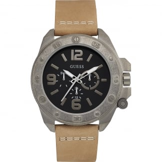 Men's Viper Tan Leather Multifunction Watch