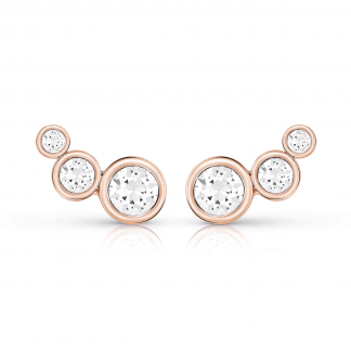 Rose Gold Crystal Beauty Ear Jacket