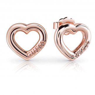 Rose Gold Plated Open Heart 'Grace' Earrings