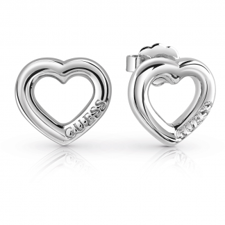 Steel 'Grace' Heart Earrings